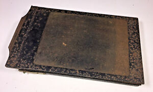 A vintage metal 9x15cm / 3-1/2x6in film holder, 1920s (we think) - classic