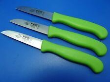 Set 3 Küchenmesser Schälmesser Gemüsemesser Solingen Edelstahl gerade apfelgrün