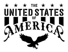 The United States of America Stencil by StudioR12 | Patriotic Word Art -...