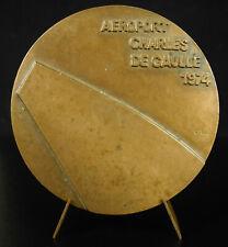 Médaille ADP Aéroport de Paris Charles de Gaulle Roissy 257 g 77 mm medal