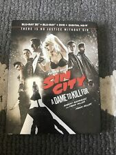 Sin City A Dame to Kill For Blu-ray + 3D Blu-Ray + Dvd W/Slipcover