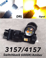 Switchback SMD LED Rear Turn Signal DRL white amber T25 3157 3457 4157 W1 CF A