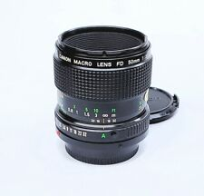 Beautiful Japanese Made New Style Canon FD 50mm f3.5 Macro Lens, Mint- Condition