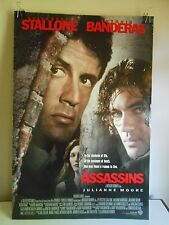 Assassins (1995) Original Double Sided Movie Poster Stallone Banderas 27x40