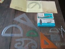 Vintage LOT DRAFTING SUPPLIES TEMPLATES DIVIDERS Vemco K&E Eagle Lietz
