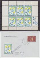 NL - Raketenpost 1963 - Rocketgramme VEMA, Beleg & kpl. Vignettenblock !!