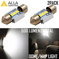 Alla Lighting Bright 6000K White DE3175 LED Bulbs for Interior Festoon Dome Map