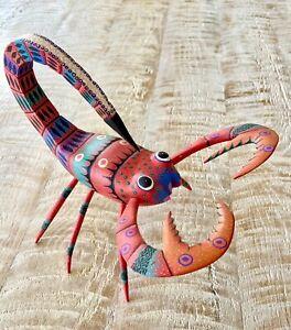 Oaxacan scorpion wood carving oaxaca folk art by David Blas, Beautiful Carving.