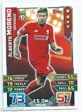 2015 / 2016 EPL Match Attax Base Card (132) Alberto MORENO Liverpool