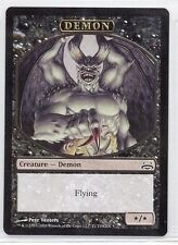 TOKEN Demone */* Nero - Demon Black MTG MAGIC DD DvD
