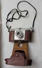 VTG Kodak Pony 135 44mm Anaston Lens Camera w Original Leather Case F/3.5, VG