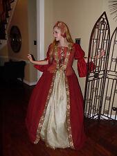 Renaissance Queen Dress gown ANN Boleyn costume stage or cosplay   CUSTOM made