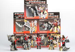 Transformers Dinobots Set  G1 Reissue Grimlock/Snarl/Slag/Sludge/Swoop Brand New