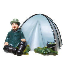 Spardose Angler Fisher mit Zelt Sparschwein 11 cm,Money Box Bank