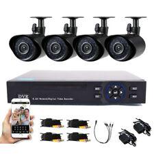 8CH 1080H Outdoor CCTV HD DVR Kit with 4pcs CMOS 1800TVL IR-CUT Security Cameras