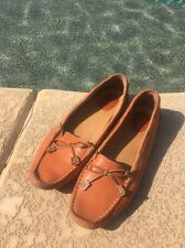 Clarks Artisan Women Shoes Size 10 Brown Leather Driving Moccasins