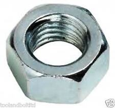 """1/2"""" WHITWORTH (BSW) STEEL NUTS BZP 10 PACK - NEW"""