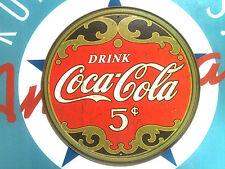 classic COCA COLA FIVE CENTS COKE - retro TIN SIGN - OUTSTANDING graphics