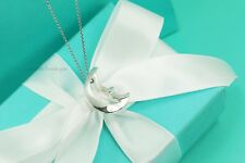 """AUTHENTIC Tiffany & Co. Sterling Crescent Moon Necklace 17"""" (#1071)"""