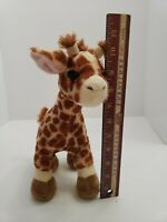 Ganz Webkinz Giraffe HM403 Plush Stuffed Animal NO Code Retired Brown Cream 11""