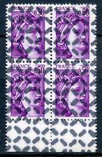 RARE / TIMBRE FRANCE N° 1969  BLOC DE 4 TIMBRE OBLITERE ANNULE POUR REVERSEMENT