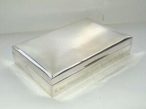 MAPPIN & WEBB SOLID SILVER STERLING CIGARETTE BOX, CIGAR TRINKET BOX, BHAM c1972