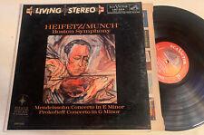 Heifetz / Munch Violin LP RCA LIVING STEREO Shaded Dog 1S/1S Original VG+/EX