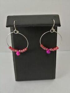 handmade hooped earrings with a fishhook fixing