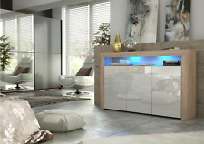 Modern TV Cabinet Drawers Unit Stand Sideboard Matte Body High Gloss Doors LED