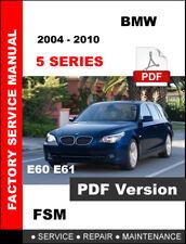 BMW 5 SERIES 2004 2005 2006 2007 2008 2009 2010 E60 E61 SERVICE FACTORY MANUAL