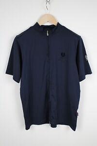 BELSTAFF Men's MEDIUM Short Sleeve Full Zip Spandex Sports T-Shirt 38282_GS