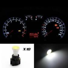 10) For Ford Instrument Panel Gauge LED Light Bulbs PC74 T5 Sockets White