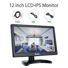 Eyoyo 12 in (environ 30.48 cm) 16:9 écran IPS Moniteur HDMI VGA BNC USB avec paysage pour CCTV PC