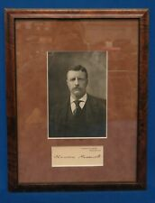 Framed President Theodore Roosevelt Card White House Autograph Signature