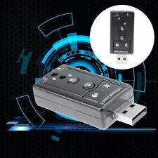 USB Port 3.5mm Digital 7.1 Channel Sound Card Audio Adapter for PC Laptop MP3 TV