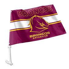 Licensed NRL Brisbane Broncos CAR Window Pole Flag Fathers Day Man Cave GIFT