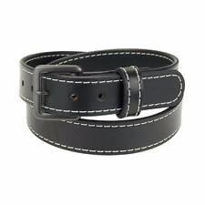 """GM125_1 1/4"""" Heavy Duty Leather Work_Gun Holster Belt Stitched_Gun Metal Buckle"""