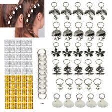 90x Dreadlock Hair Beads Dread Beads Hair Braid Pins Rings Clip DIY Cuff Jewelry