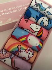 6pairs double side 3D unicorn socks with nice box