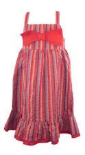 Vestidos de niña de 2 a 16 años rojo 100% algodón
