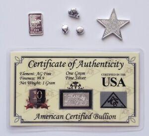 Silver Collector's Special - Pure Silver Bars .999 Fine Gram 1/10 Oz Bullion