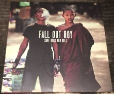 PETE WENTZ SIGNED AUTOGRAPH FALL OUT BOY SAVE ROCK AND ROLL VINYL ALBUM w/PROOF
