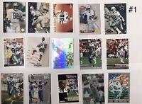 Michael Irvin Football Cards - Lot Of 15 - Dallas Cowboys - HOF