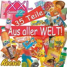 QueenBox® Süssigkeiten aus aller Welt Großpackung | 35 x Süßigkeiten Mix | Box