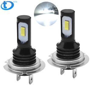 H7 LED Headlight Bulbs Kit High Low Beam 100W 8000LM Super Bright 6500K White US
