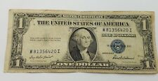 1935 F Blue Seal $1 One Dollar Silver Certificate Bill - Old Paper Money