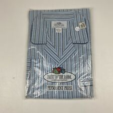 Vintage NOS Mens Fruit Of The Loom Pajamas Polyester Cotton Perm Press SIZE S