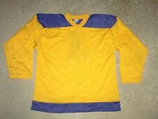 Vintage 1980's DON ALLESON nylon Hockey Jersey youth Large