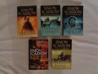 Simon Scarrow X5 Books,Number One Selling Author, Historical Fiction,Paperback