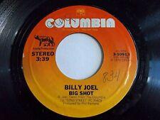 Billy Joel Big Shot / Root Beer Rag 45 1978 Columbia Vinyl Record